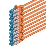 1,5m–Orange–10Stück–CAT6Ethernet LAN Netzwerkkabel SET |...