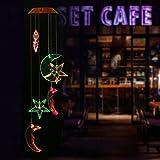 OULII Solar Windspiel Farbwechselnde Mobile Wind Glockenspiel Für Zuhause,Nacht,Garten Dekoration