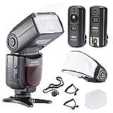 Neewer NW-670 TTL Flash Blitzgerät mit LCD Anzeige Set für Canon DSLR Kameras, beinhaltet:...