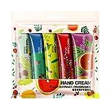 Handcreme Kit 5 Stück Geschenk verpackt feuchtigkeitsspendende Hand Behandlung von UmayBeauty - grüner Tee, Grapefruit, Rose, Beeren, Shea