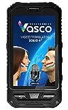 Vasco Translator Solid 4': Elektronischer Übersetzer mit Spracherkennung, Sprachausgabe, 4' Display, Spezialgehäuse