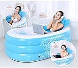 Erwachsene Kinder-Pool aufblasbare Badewanne Faltbare Erhöhung dicker Isolierung Badewanne ( Farbe : Blau )