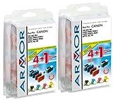 10x Patronen für Canon Multipass C 400 (4xBk, 2xC, 2xM, 2xY) Qualität von Armor Druckerpatronen kompatibel für C400, 4x29ml, 6x16ml