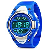 Jungen Digital Uhren, Kinder Sport Armbanduhr mit Alarm, Outdoor 50 m Wasserdicht Kinder...