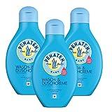 Penaten Wasch- & Duschcreme 400ml – Mildes Waschgel für Babys – Ideal zum sanften Baden und Waschen von Babys – Keine Tränen mehr (3 x 400ml)