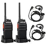 Retevis RT24 Plus Walkie Talkie 16 Kanäle UHF PMR446 Funkgerät Wiederaufladbar USB Ladeschale mit...