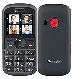 simvalley communications Seniorenhandys: Komfort-Handy mit Garantruf Premium, Sprach-Memos, Leselupe, Bluetooth (Notruf Handys mit Lupe)