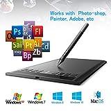 AEDU Ugee M708 USB Grafiktablett Zeichentablett Pen Tablet 10 x 6' Digitalisiertablett Tragbare...