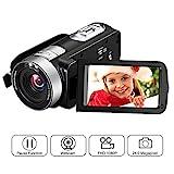 Videokamera Full HD Video Camcorder 1080p 24,0 MP 3 Zoll LCD drehbarer Bildschirm Digitale Camcorder...