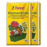 Blumenerde FOREST 2 Sack á 40 Liter = 80 Liter Qualitäts Blumen- & Pflanzerde aus Bayern