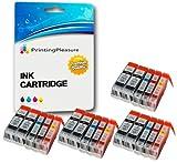 20 Druckerpatronen für Canon BJC-3000, BJC-6000, BJC-6100, BJC-6200, BJC-6500, BJI-6500, I550, I550X, I560, I560X, I6500, I850, iP3000, iP4000, iP4000R, iP5000, MP700, MP730, MP750, MP780, MPC100 MPC400, MPC600, MPC600F, MP-F50, MP-F60, MP-F80, C100, C150, C600, C600f, S400, S400X, S450, S4500, S500, S520, S530d, S600, S630, S6300, S750 | kompatibel zu BCI-3eBK, BCI-6C, BCI-6M, BCI-6Y