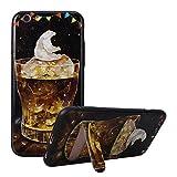 iPhone 6 6S Hülle, Asnlove Premium TPU Case Silikon Schale Ultra Dünn Relief Klar Weiche Bumper-Style Handyhülle Schwarz mit Stentfunktion Schutzhülle für Apple iPhone 6 / 6S 4.7 Zoll Case Cover - Relief 3D Muster Serie (Eisbär)