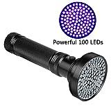Veetop UV Taschenlampe, Schwarzlichtlampe mit 100 UV-LEDs und 395nm, superstrahlend, robust und...