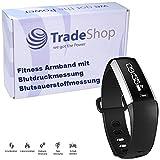 Touchscreen Fitness Bracelet M2 Bluetooth Smartwatch Blutdruck Blutsauerstoffmessung Sport Armband Uhr Pulsmesser Schrittzähler Kalorienverbrauch Schlafanalyse Wecker Musiksteuerung Fernauslöser Aktivitätstracker IP67 Geschützt für Android iPhone iOS mit App