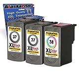 3x Druckerpatrone Ersatz für Canon PG-37 XL + CL-38 XL für Canon PIXMA MP140 MP450 MP190 MP210 MP220 MP470 MP460 IP2500 IP1800 IP1900 MX300 IP2600 IP1600 IP2200 IP1700 IP2580 MP160 MP450 X MX310 MP180 MP150 MP170 IP1200 IP1300 Fax JX200 JX210 P JX500 JX510 P JX210 P