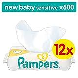 Pampers New Baby Sensitive Feuchttücher, Gigapack, 600 Tücher (12 x 50 Stück)