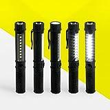 STYLETEC LED Taschenlampe / Handlampe / Arbeitsleuchte + Magnet & Clip - schwarz