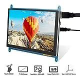 Elecrow Raspberry Pi Display Touchscreen Monitor Anzeige IPS Bildschirm, 7 Zoll 1024X600 HD TFT LCD...