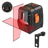 Tacklife SC L07 Kreuzlinienlaser mit 2 Laserquellen, Puls-Modus und Neigungsfunktion, 110 Grad selbstnivellierenden Kreuzlinienlaser (Arbeitsbereich 15M, IP54, inkl. Schutztasche, Magnethalter)