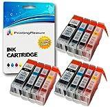 12 Druckerpatronen für Canon BJC-3000, BJC-6000, BJC-6100, BJC-6200, BJC-6500, BJI-6500, I550, I550X, I560, I560X, I6500, I850, iP3000, iP4000, iP4000R, iP5000, MP700, MP730, MP750, MP780, MPC100 MPC400, MPC600, MPC600F, MP-F50, MP-F60, MP-F80, C100, C150, C600, C600f, S400, S400X, S450, S4500, S500, S520, S530d, S600, S630, S6300, S750 | kompatibel zu BCI-3eBK, BCI-6C, BCI-6M, BCI-6Y
