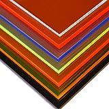 in-outdoorshop Plexiglas Zuschnitt Acrylglas Platte in unterschiedlichen Farben (500mm x 600mm x 3mm, blau fluoreszierend)