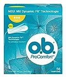 O.b. ProComfort Normal Tampons, mit Dynamic Fit Technologie und SilkTouch Oberfläche, für ultimativen Komfort (innerhalb des O.b. Sortiments) und zuverlässigen Schutz, 1er Pack (1 x 56 stuck)