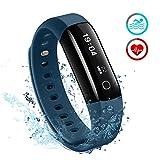 Mpow IP68 Wasserdichte Smart Fitness Armbänder mit Pulsmesser, OLED Bildschirm Herzfrequenz Monitor...