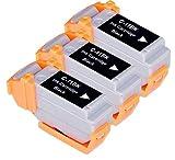 'Akia–LR 1Printstation–Kartusche Pack 3Kompatible Canon BCI11BK/0957A002â € Tintenpatrone schwarz