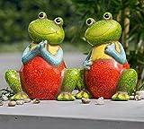 Frosch Freddy Keramik 19 cm 2er-Set (G32985) Gartenfigur Gartendeko