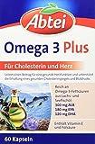 Abtei Omega-3-6-9 Lachsöl und Leinöl plus Olivenöl 60 Kapseln, 1er Pack (1 x 99g)