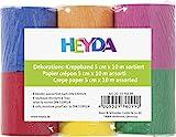 Heyda 203376099 Kreppbänder (5 cm x 10 m, sortiert 32 g qm, 6 Rollen)