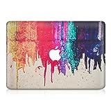 kwmobile Aufkleber Sticker für Apple MacBook Air 13' (ab Mitte 2011) Skin Folie Voderseite Decal Regenbogen laufende Farbe Design