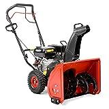 HECHT Benzin-Schneefräse 9022 Schneeschieber mit 56 cm Arbeitsbreite + Radantrieb 3,67 kW (5,0 PS)