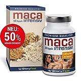 Maca Kapseln Hochdosiert 2500 mg - 200 Maca Intensiv Kapseln für bis zu 7 Monate - Ohne Magnesiumstearate plus Vitamin B12 - Nahrungsergänzung von GloryFeel