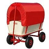 Bollerwagen mit Plane - 4 luftgefederte Profilräder - 180 kg belastbar Transportwagen Handwagen Wagen Transport Schutzdach