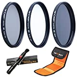 K&F Concept® Objektiv Filterset 62mm UV CPL ND4 Slim UV Filter 62mm CPL Filter 62mm Polfilter 62mm...