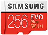Samsung EVO Plus Micro SDXC 256GB bis zu 100MB/s, Class 10 U3 Speicherkarte (inkl. SD Adapter)...