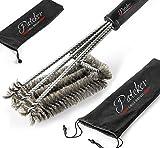 Pateker® 3 in 1 Grillbürste - Extra Langer Griff (45,7 cm) - Beste Grill und BBQ Reinigungswerkzeuge Zubehör –…