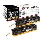 2 Original Reton Toner, kompatibel, nach ( ISO-Norm 19798 ) ersetzt Canon 731H für Canon LBP 7100CN Canon LBP 7110CW Canon i-Sensys MF8200 Canon i-Sensys MF8280 6273B002 Schwarz