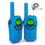 Debonice Walkie Talkies walki talki kinder und Outdoor-Reisen LC-Display VOX 8 Kanäle Taschenlampe Funkgerät 2er-Set (Blau)