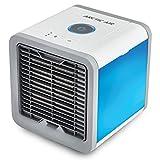 Mini Air Cooler Luftkühler Mobile Klimageräte Wasserkühlung Zimmer Raumentfeuchter Raumentfeuchter Mini Klimaanlage Ventilator USB Klimagerät Raumluftkühler Luftreiniger Tragbarer Tischventilator Verdunstungskühler (Einstellbare 7 Farbe LED-Licht/3 Ventilationsstufen) (Weiß)