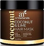 ArtNaturals Kokos-Limone Haarkur - (8 Oz / 226g) - Intensiv-Kur und Feuchtigkeitsspender für alle Haartypen - mit Kokosnuss, Limone, Aloe Vera und Hagebuttenextrakt - Sulfatfrei, ohne Parabene