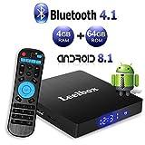 Android 8.1 TV Box 4 GB RAM/64 GB ROM - Leelbox Smart TV Box Q4 MAX, Quad Core 64 Bit Android Box...