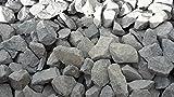 25 kg Anthrazit Basaltsplitt 32-63 mm - Basalt Splitt Edelsplitt Lava Lavastein - LIEFERUNG KOSTENLOS