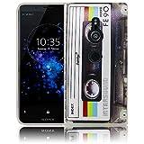Sony Xperia XZ2 Kassette Retro Handy-Hülle Silikon - staubdicht, stoßfest & leicht - Smartphone-Case thematys Sony Xperia XZ2