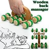 Gimbal® Biegsames Cellulite Rollenmassagegerät aus Holz zum Straffen von Gewebe, Anti-Cellulite Holzmassagegerät (Grün) (Grün)