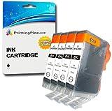 4 SCHWARZ Druckerpatronen für Canon BJC-3000, BJC-6000, BJC-6100, BJC-6200, BJC-6500, BJI-6500, BJI-9100, I550, I550X, I560, I560X, I6500, I850, i860, i865, iP3000, iP4000, iP4000R, iP5000, MP700, MP730, MP750, MP760, MP780, MPC100 MPC400, MPC600, MPC600F, MP-F50, MP-F60, MP-F80, C100, C150, C600, C600f, S400, S400X, S450, S4500, S500, S520, S530d, S600, S630, S6300, S750 | kompatibel zu BCI-3eBK