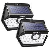 Mpow Solarlampen für Außen, 20 LED Solarleuchte mit Bewegungsmelder Solarlicht 120 ° Weitwinkel Solarlampe Solar Sicherheitswandleuchte Wasserdicht für Garten, Garage, Auffahrt, Pfad, Hof & Balkon