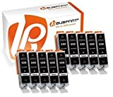 Bubprint 10er Set Druckerpatrone Schwarz Kompatibel Für Canon Pixma MX925 IP7250 MG5650 MX725 Drucker Canon PGI-550 XL PGBK PGI-550BK PGI 550 Mit Chip