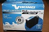 Viking Tintenpatrone, kompatibel mit Canon BJC / 600 / 600E, 600J - 600S / 610 / 620 / 610JW 620JW / 680J, 2 X Schwarz, 6 Stück